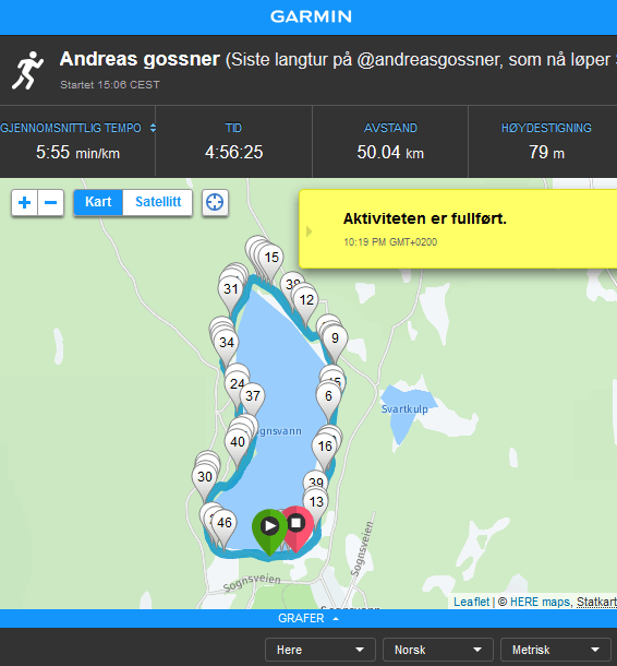 TO500 - Screenshot - Garmin Andreas Sognsvann Ultra