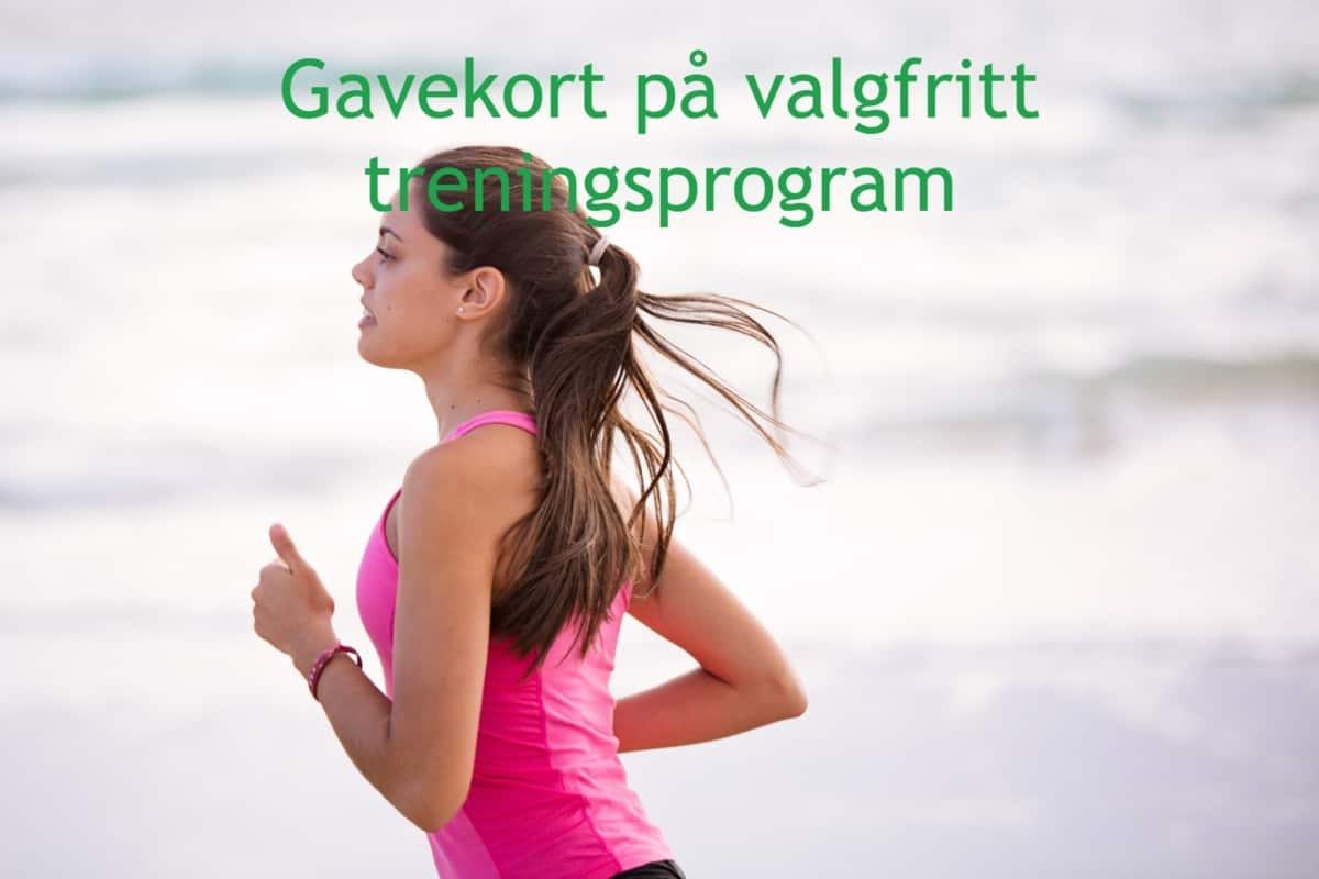 gavekort på valgfritt treningsprogram fra løpetrening