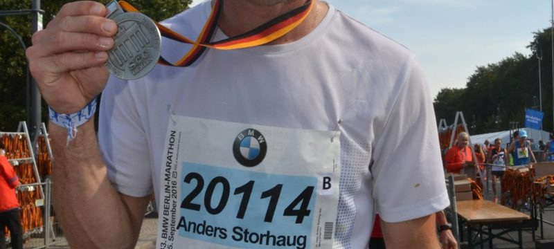 Anders S. Heen etter sitt solide Berlin Marathon på 2.46 i 2016.