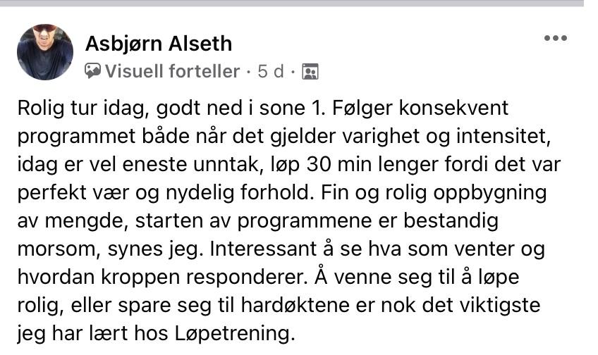referanser løpetrening asbjørn 170221