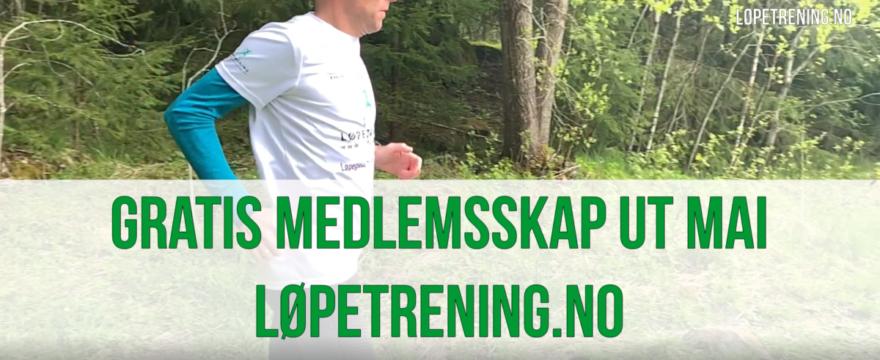 Gratis medlemsskap ut mai - Løpetrening.no