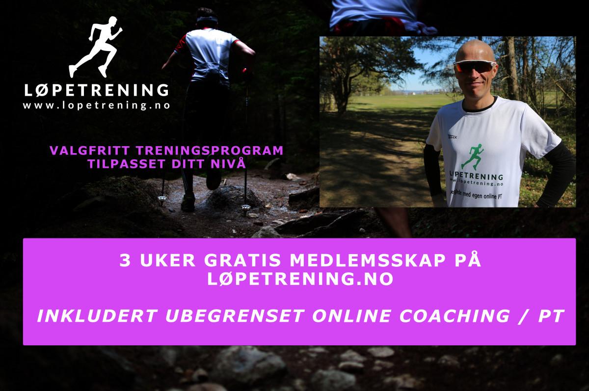Online coaching - 3 uker gratis medlemsskap