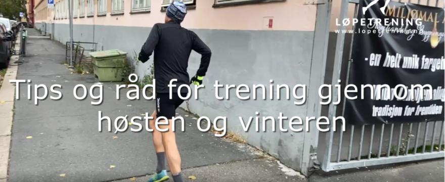 Løping gjennom høsten og vinteren